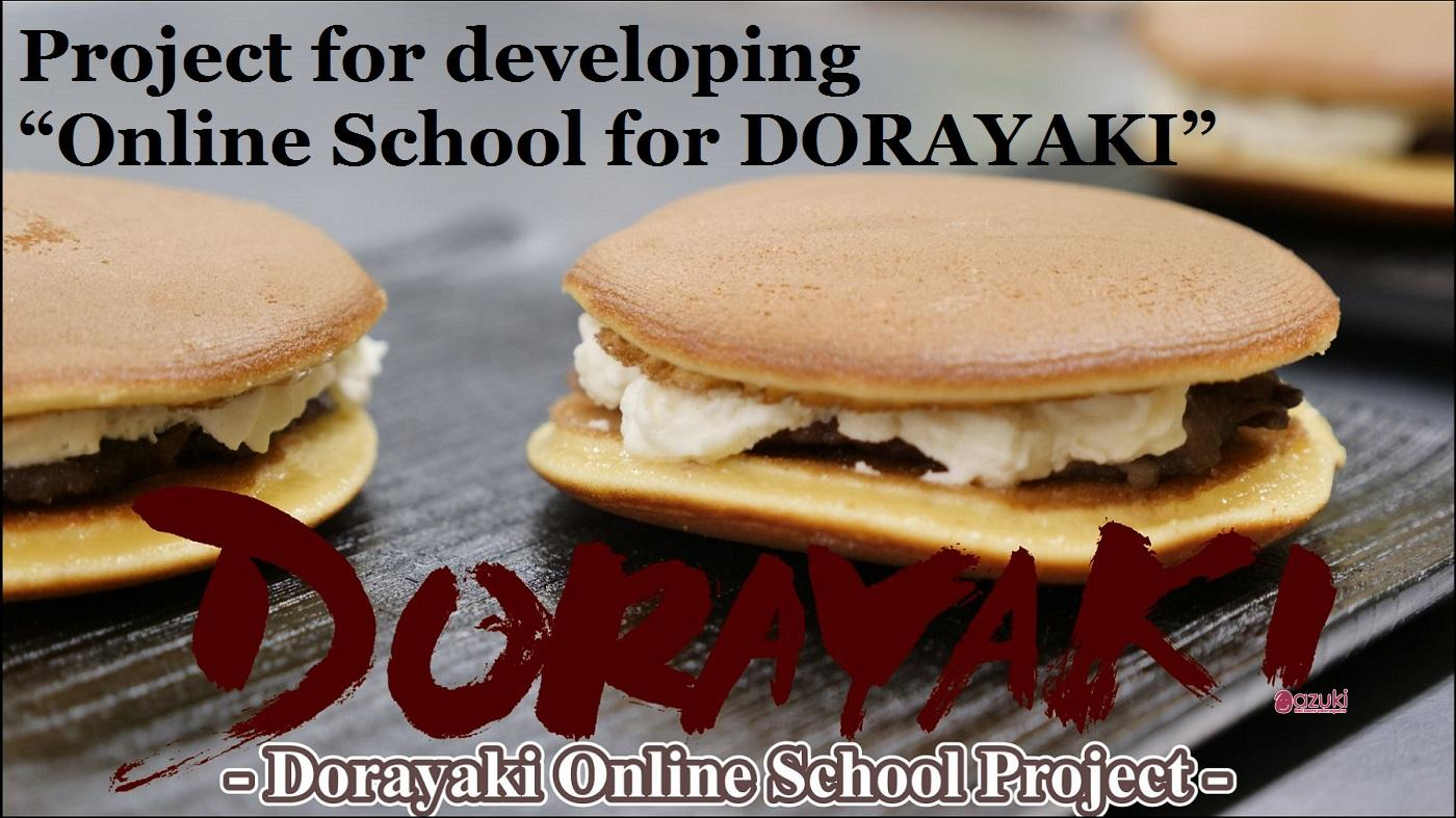 "Mikangumi announces the launch of the project for developing "" Online School for  Dorayaki"" on Kickstarter."
