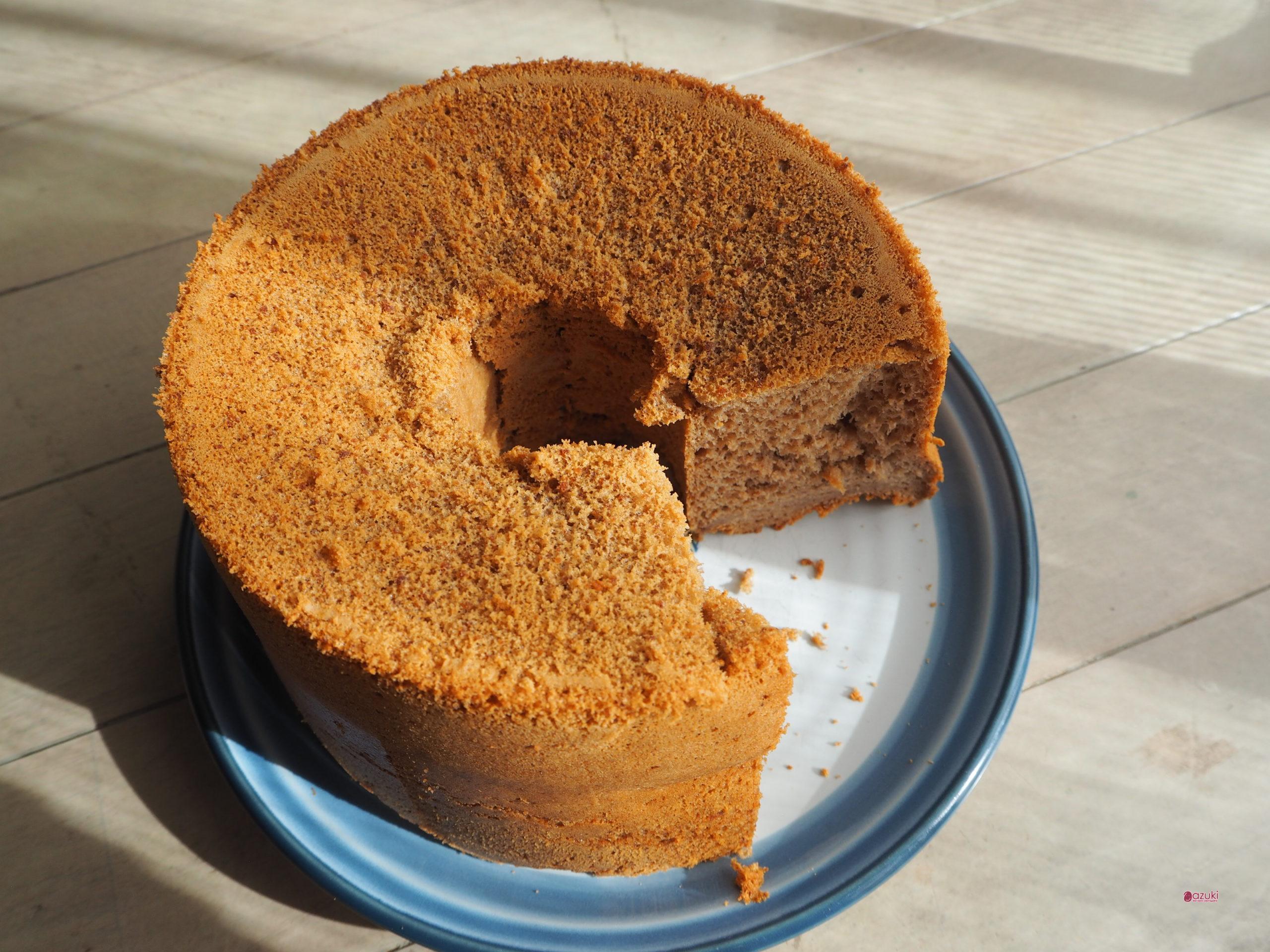 Gluten-Free Chiffon Cake with azuki Flour